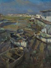 Houseboats and Rowing Boats, Winter Sun 2