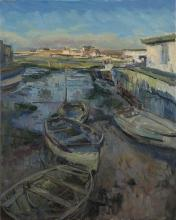 Houseboats and Rowing Boats, Winter Sun 3