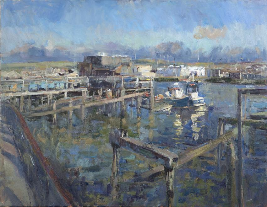 2015 Newhaven, Low Tide Winter Sun | Oil on Canvas | 71 x 91 cm