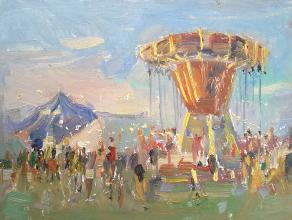 Carousel at a Summer Festival