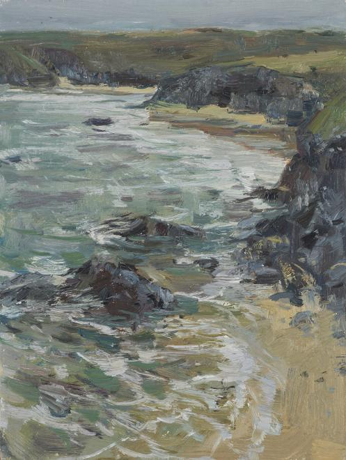 2018 From the Cliffs Above Porthcothan | Oil on Board | 30cm x 23cm
