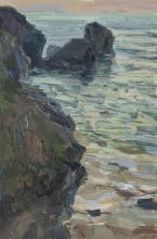 Cliffs at Porthcothan, Last Light