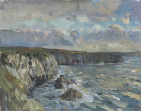 Clifftops Evening Sun, St Justinians